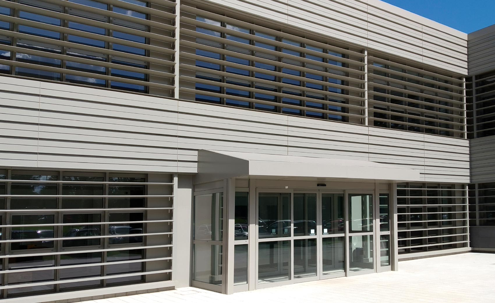 Curtain walls and windows CGT seat Rome