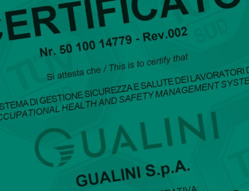 Gualini obtained ISO 45001: 2018 certification